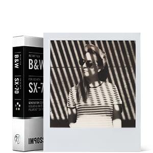 svart-vit film för SX-70